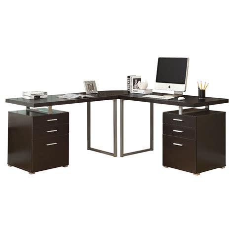 Cappuccino Desk by Carey Cappuccino Modern L Desk Eurway Furniture