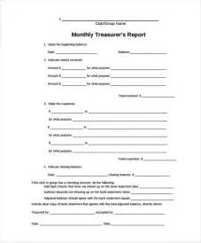 Non Profit Monthly Financial Report Template treasurer report template 9 free word pdf documents
