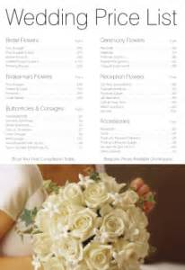 boutineer cost wedding flower prices and bridal bouquets prices