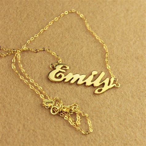 gold name necklaces using name necklaces for showing