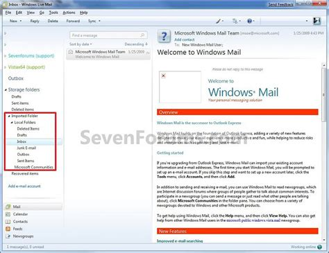 Html Format Windows Live Mail | how to re format fol mail file to iaf mail file so i can