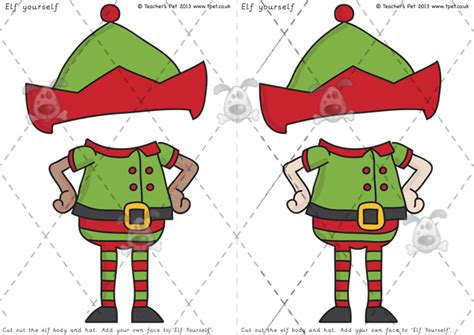 elf yourself template printable teacher s pet elf yourself premium printable classroom