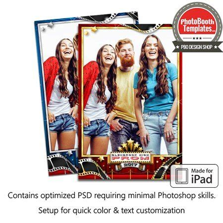 hollywood photo booth layout hollywood stars portrait ipad photo booth template