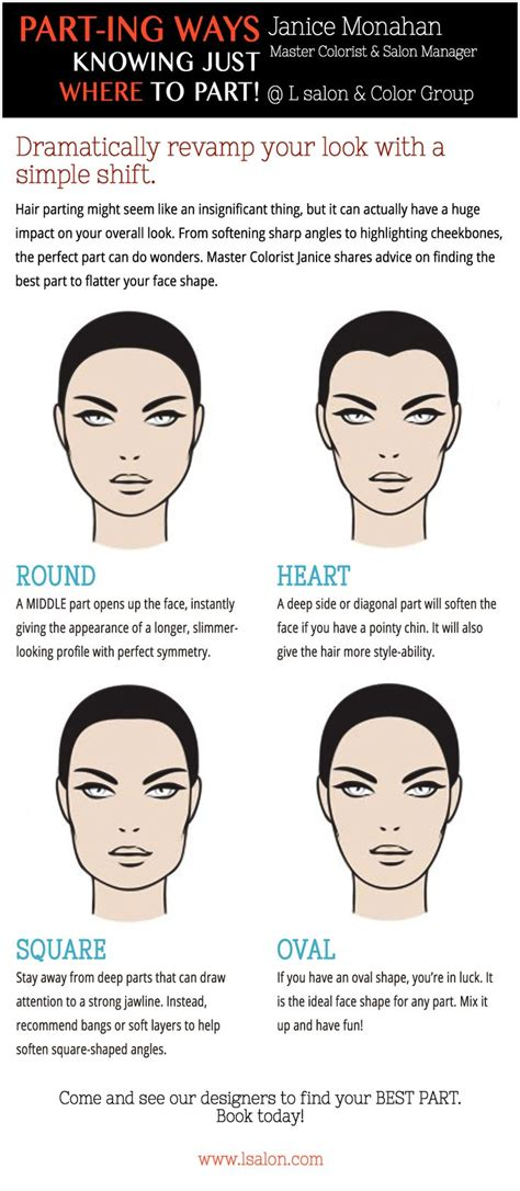 is it flaterring to the face to tuck hair behind the ears want to know how to part your hair to flatter your face