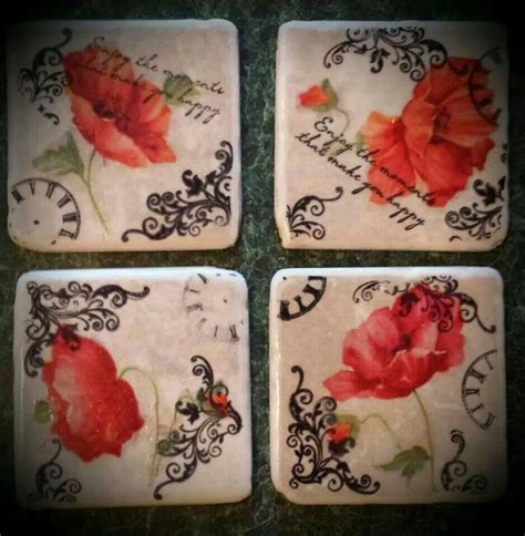 decoupage coaster tutorial 909 best coasters images on pinterest gift ideas craft