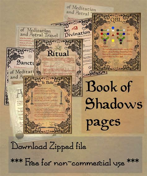 book pdf in free book of shadows printables mystic