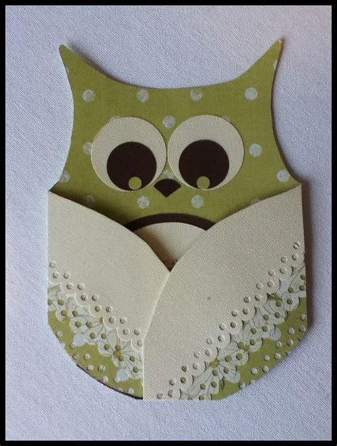 Handmade Owl - owl baby card handmade green 1