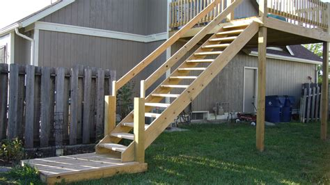 Build Stair Railing Smart Building Deck Stairs Home Review Inspiring Your New