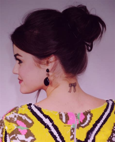 celebrity tattoo of the day lucy hale new 2 tats