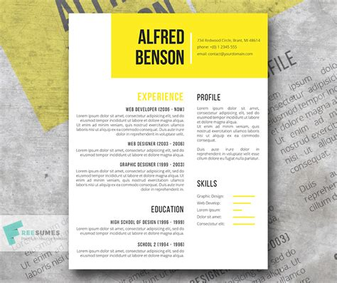 Creative Resume Template Word