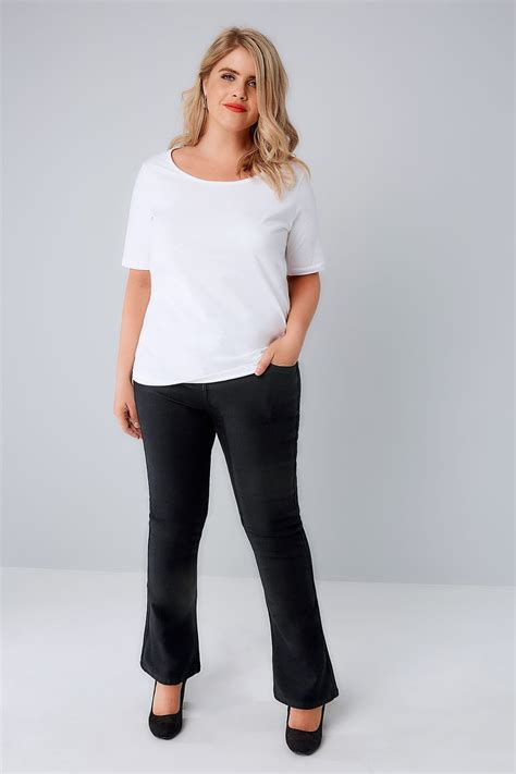 Napoclean Strong By Nry Fashion black bootcut 5 pocket plus size 16 to 32