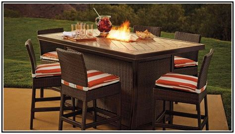 bar height patio dining set  fire pit fire pit patio