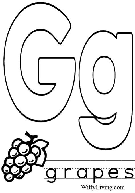 G Alphabet Coloring Pages by Coloring Pages Letter G Crafts For To Make A