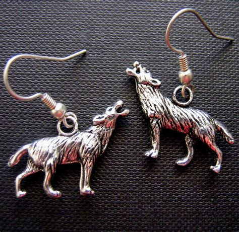 Howling Wolf Dangle Earrings by Sale Howling Wolf Earrings Felt