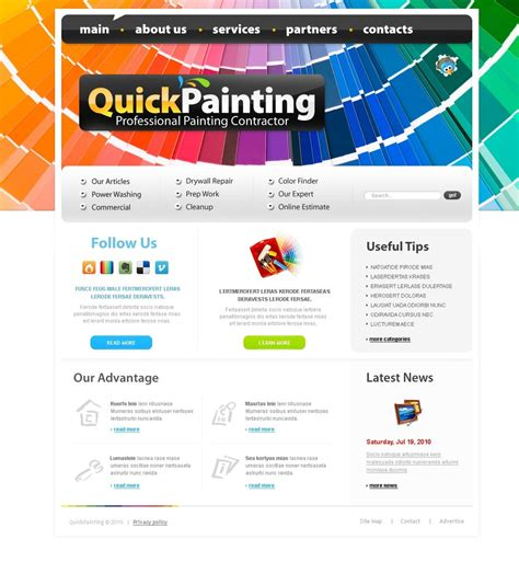 Painting Company Website Template 28435 Painting Company Website Templates Free