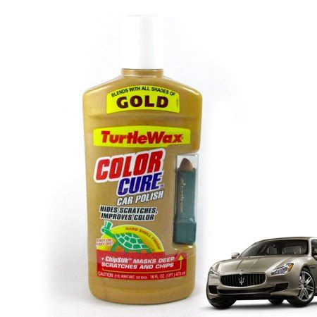 color cure turtle wax color cure car chipstik gold scratch