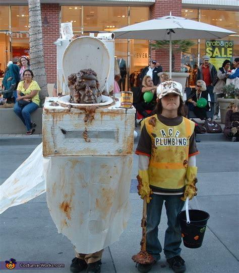 toilet  plumber halloween costumes