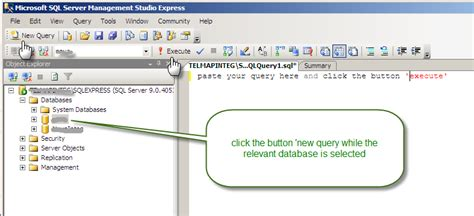sql express query tutorial topic how to run query using sql studio express