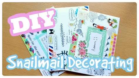 how to decorate for a diy snailmail envelope decorating