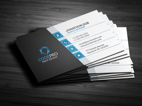 Modern Business Cards Template by Creative Modern Business Card Business Card Templates