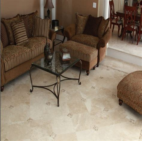 Interior Garden Plants Elegant Durango Travertine Tile Traditional Living