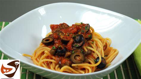 Cucina Facile E Veloce Primi Piatti Spaghetti Alla Puttanesca Buoni Facili E Veloci Primi