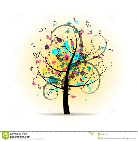 musical tree abstract colorful musical tree stock vector image 50409249