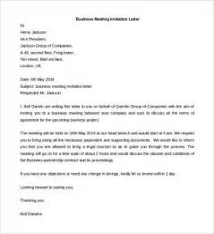 Business Meeting Invitation Templates Business Letter Template 44 Free Word Pdf Documents