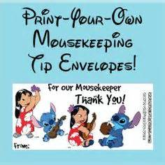 printable housekeeping tip envelopes 1000 images about disney magical times on pinterest