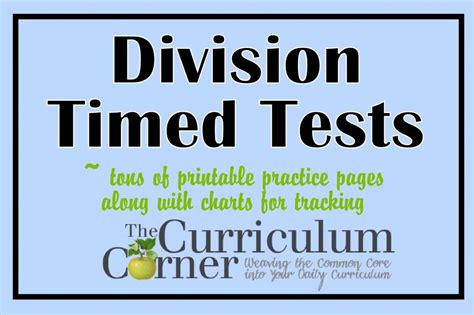 division testi division timed tests practice pages the curriculum