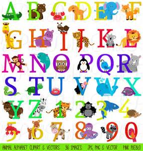10 safari animal font images zoo animal alphabet letters