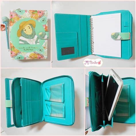 binder pouch note tablet sul kulit bebas custom