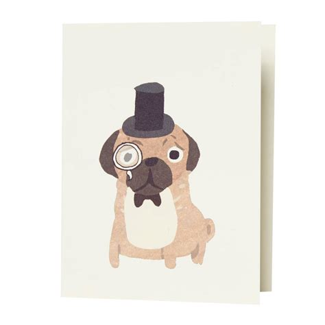 pug cards uk pug card by fenella smith notonthehighstreet