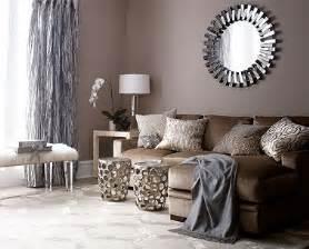 peinture salon couleur taupe et rideaux gris salons