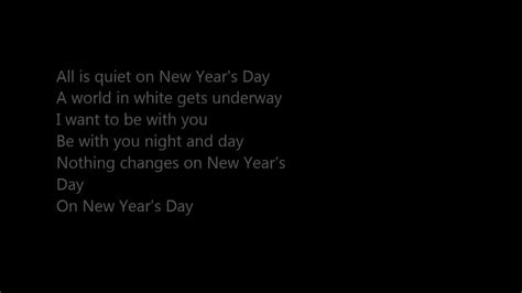 s day lyrics u2 new year s day lyrics