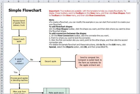 office 2010 flowchart how to prepare flowchart in excel 2010 5 best images of
