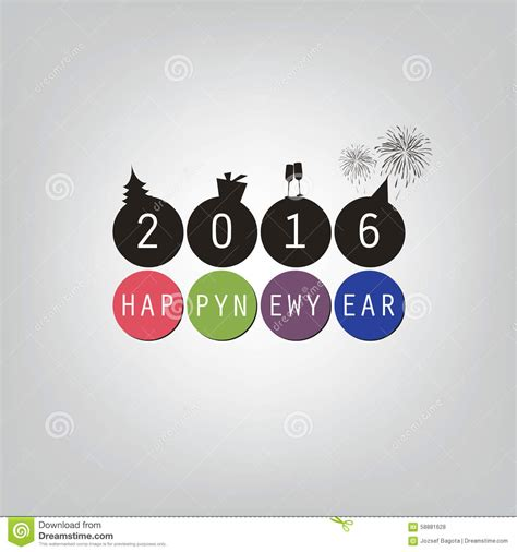wishes modern simple minimal happy  year card  cover background template