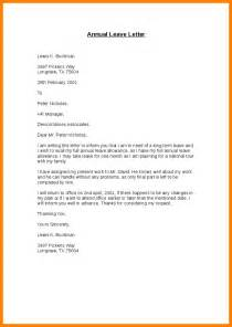 Annual Leave Cancellation Letter Sample Letter Example Leave Of Absence 100 Cover Letter Examples