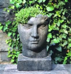 inspire bohemia stone head garden planters