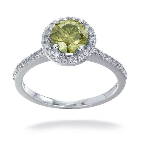 yellow engagement ring 14k white gold