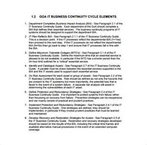 it continuity plan template business continuity plan template 11 free word