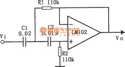 high pass filter diagram the circuit diagram of active high pass filter lm102 temperature control control circuit