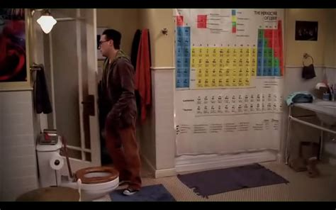 big bang shower curtain items in the pilot episode of the big bang theory just