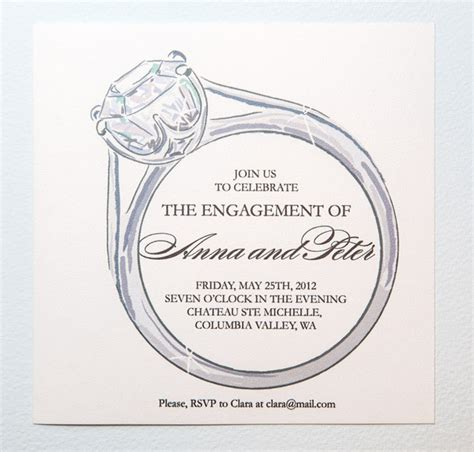 engagement invite templates printable engagement invitation