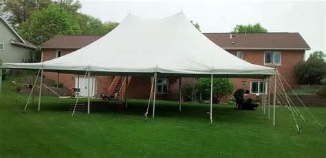 tent for backyard party 30 x 40 rope and pole tent rental in iowa city cedar rapids