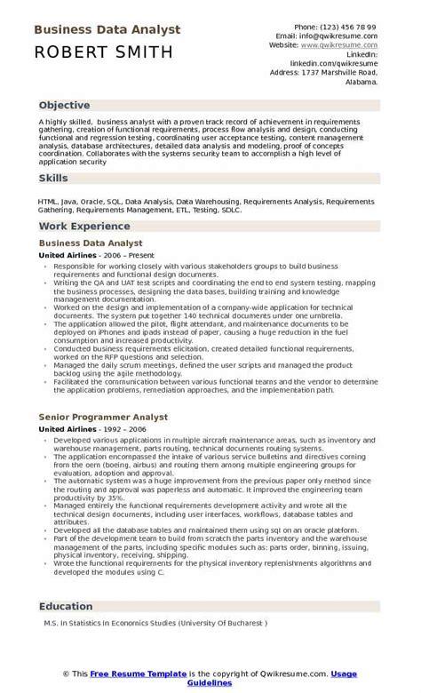 data analyst resume exle 100 sle resume of data analyst importance of