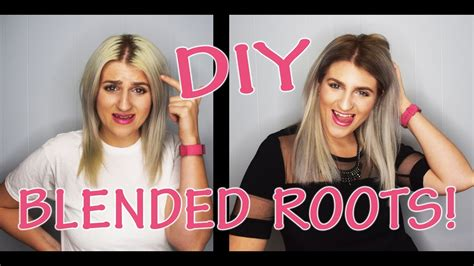 how to blend in hair roots diy blend your dark roots youtube