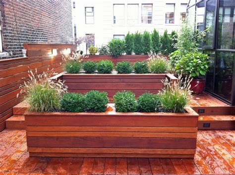 modern balcony planters planter fence landscape modern with horizontal fence wood