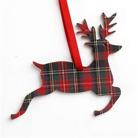 tartan christmas tags by artcuts notonthehighstreet com