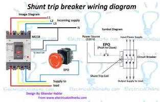 shunt trip breaker wiring diagram explanation electrical 4u